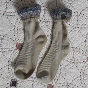EUC Glittery Boot Socks with Button detail